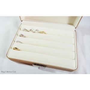 便利な鍵付きジュエリーケース 指輪が最大36本収納できる高級仕様のリング専用コレクションケース(ベージュ)|united-jewellery|03