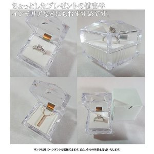 【即納/わけありアウトレット】リング、ピアス、ペンダントも収納できるクリスタルのクリアジュエリーケース united-jewellery 03