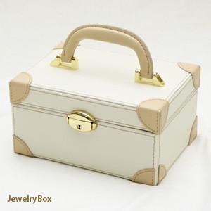 長く愛用したい方におすすめ 2段式鍵付き高級ジュエリーボックス(ホワイト)|united-jewellery