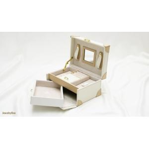 長く愛用したい方におすすめ 2段式鍵付き高級ジュエリーボックス(ホワイト)|united-jewellery|04