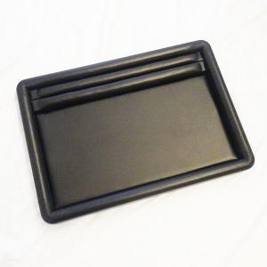 業務用 商談会や宝石店で使用されているリング差付レザー調素材の接客トレー(ブラック) united-jewellery