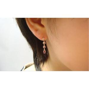 【即納】K14PG製のロードライトガーネットやピンクトルマリンなどを使用したアンティーク調ピアス(1ペア)メール便可 united-jewellery 02