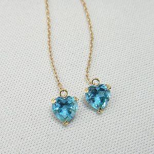 【即納】イエローゴールド製ハート型の可愛いブルートパーズピアス メール便可|united-jewellery