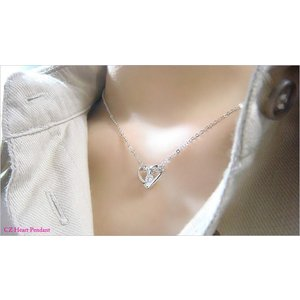 【即納】プレゼントにオススメのオープンハートペンダントネックレス メール便可|united-jewellery|05