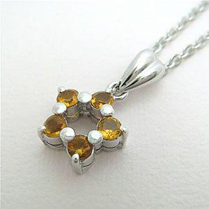シトリンの星型ペンダントネックレス メール便可|united-jewellery