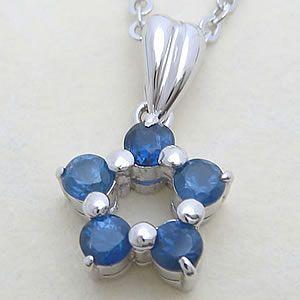天然サファイアの星型ペンダント メール便可|united-jewellery