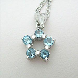 ブルートパーズの星型ペンダントネックレス メール便可|united-jewellery