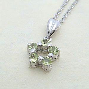 ペリドットの星型ペンダントネックレス メール便可|united-jewellery