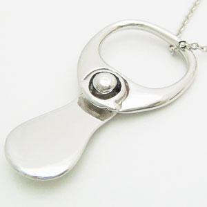 プルタブ型モチーフのシルバーペンダントネックレス メール便可|united-jewellery