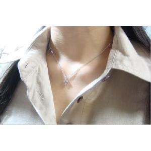 【即納】ホワイトキュービックをあしらったクロスペンダント メール便可|united-jewellery|02