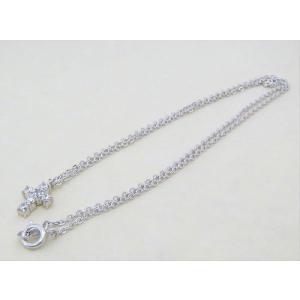 【即納】ホワイトキュービックをあしらったクロスペンダント メール便可|united-jewellery|03