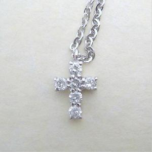 【即納】ホワイトキュービックをあしらったクロスペンダント メール便可|united-jewellery|04