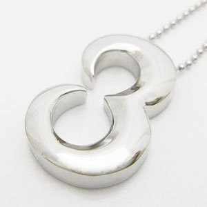 オールシルバー製のナンバーペンダントシリーズ No.3 (ナンバースリー)メール便可|united-jewellery