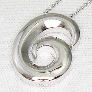 オールシルバー製のナンバーペンダントシリーズ No.6 (ナンバーシックス)メール便可|united-jewellery