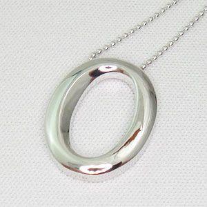 オールシルバー製のナンバーペンダントシリーズ No.0 (ナンバーゼロ)メール便可|united-jewellery