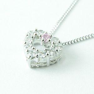 【即納】パヴェタイプのオープンハートペンダントネックレス メール便可|united-jewellery