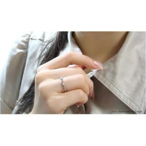 6つ爪ティファニーセッティングデザインのK18製ホワイトゴールド製0.1ct天然ダイヤリング 送料無料|united-jewellery|03