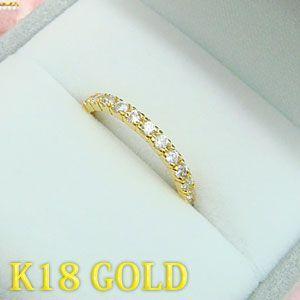 K18ゴールド製の可愛いハーフエタニティーリング 送料無料 united-jewellery
