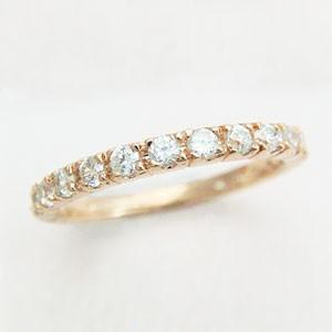 大人気ピンクゴールドハーフエタニティリング メール便可|united-jewellery