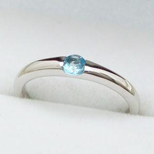 ワンポイントシンプルデザインリングシリーズ ブルートパーズリング メール便可|united-jewellery