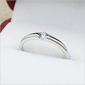 ワンポイントシンプルデザインリングシリーズ アクアマリンリング メール便可 united-jewellery