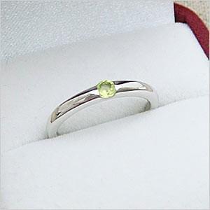 ワンポイントシンプルデザインリングシリーズ ペリドットリング メール便可 united-jewellery