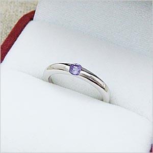 ワンポイントシンプルデザインリングシリーズ アメジストリング メール便可|united-jewellery