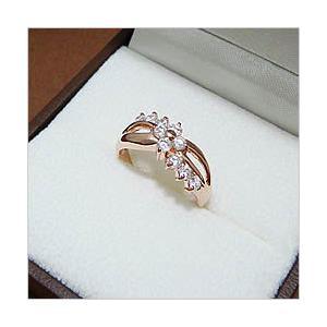 スタッフおすすめのピンクゴールドの輝きのゴージャスフラワーモチーフリング メール便可|united-jewellery