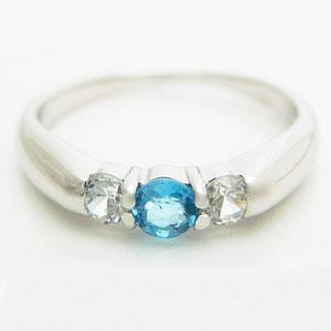 スリーストーンブルートパーズリング メール便可|united-jewellery