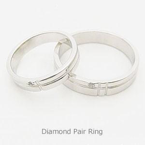 0.01ctの天然ダイヤモンドをあしらったお買い得ペアリング(ペアセット) メール便可 united-jewellery