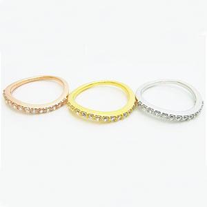 豪華な輝きを放つウェーブハーフエタニティリング(プラチナ、ピンクゴールド、ゴールド)メール便可 united-jewellery