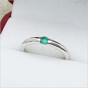 ワンポイントシンプルデザインリングシリーズ エメラルドリング メール便可 united-jewellery
