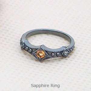 サファイアをあしらったRPGゲームに出てくるような聖なる指輪パワーストーン メール便可|united-jewellery