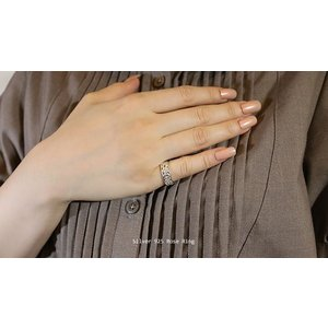 【即納/わけありアウトレット】オールシルバー製薔薇をモチーフにした透かし彫りのローズリング メール便可 united-jewellery 04