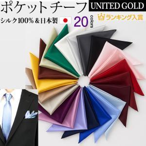 ポケットチーフ シルク100% 無地 日本製 ビジネス フォーマル カラー豊富 ak7100〈ゆうパケット〉 unitedgold