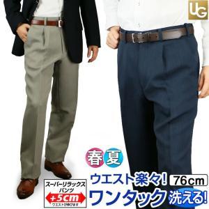 スラックス 夏用 クールビズ メンズ ビジネス ワンタック ...