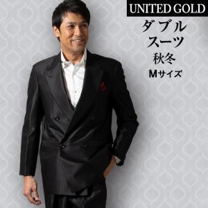 スーツ メンズ 光沢 ダブルスーツ シャイニー素材 パーティスーツ ドレススーツ  ゆったり ツータック 結婚式   114872 unitedgold