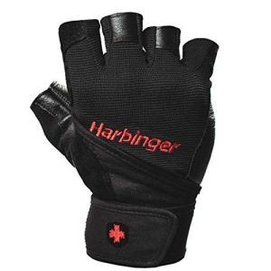 Harbinger (ハービンジャー)プロ トレーニンググローブ(リストラップ付)VENTED PALM ブラック (XXL) [並行輸入品] universalmart