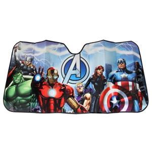 Plasticolor 003695r01?Marvel Avengers 'アコーディオンスタイルフロントガラスサンシェード universalmart