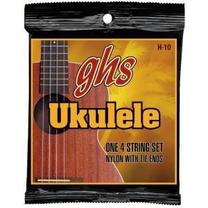 ghs ウクレレ弦 HAWAIIAN UKULELE/ハワイアンウクレレ (コンサート/スタンダード) ブラックナイロン H-10|unliminet