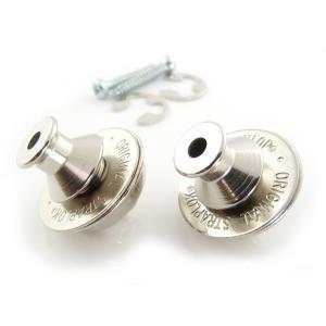 ストラップロックピン・セットは楽器に取り付けるストラップロックシステム・ボタンとネジ、ストラップ側に...