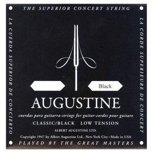 AUGUSTINE オーガスチン クラシックギター弦 ブラック6弦 BLACK 6th|unliminet