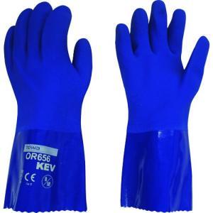 (耐切創手袋)ビニスター 耐油ビニスターKEV 8/M OR656-1P-8|unoonline