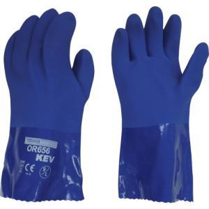 (耐切創手袋)ビニスター 耐油ビニスターKEV 9/L OR656-1P-9|unoonline