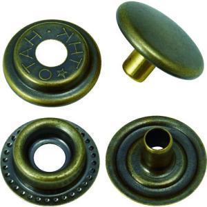 (ハトメ・ハトメパンチ)TRUSCO ハトメボタン 金ブロンズメッキ 15mm 10組入り P-THB15-GBM|unoonline