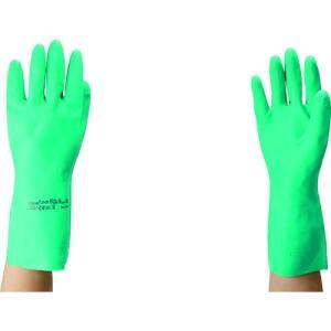 (ニトリルゴム手袋)アンセル 耐油ニトリル手袋 ソルベックス アルファテック中厚手 サイズM 37-175-8|unoonline