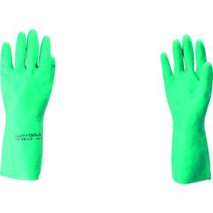 (ニトリルゴム手袋)アンセル 耐油ニトリル手袋 ソルベックス アルファテック中厚手 サイズL 37-175-9|unoonline