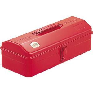 (スチール 工具箱 ツールボックス 道具箱 おしゃれ)TRUSCO トラスコ 山型 工具箱 359X150X124 レッド  Y-350-R|unoonline