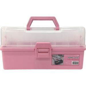 (プラスチック 工具箱 ツールボックス 道具箱 おしゃれ)TRUSCO トラスコ ホームケース 321X195X165 ピンク  HP-320|unoonline