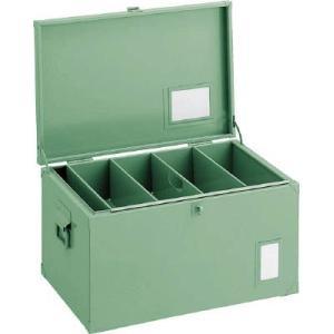 (車載用 収納箱 道具箱)トラスコ 中型車載用 工具箱 中皿付 700X330X280 F700